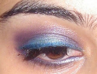 Purpe and blue eyeshadow