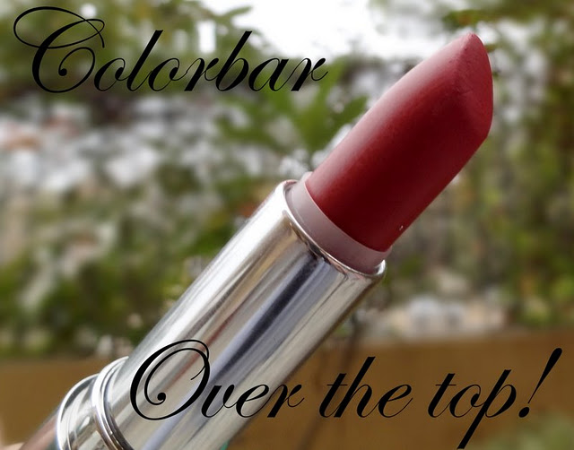 colorbar velvet matte lipstick over the top