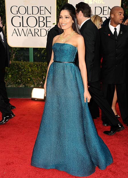 frieda pinto golden globes 2012