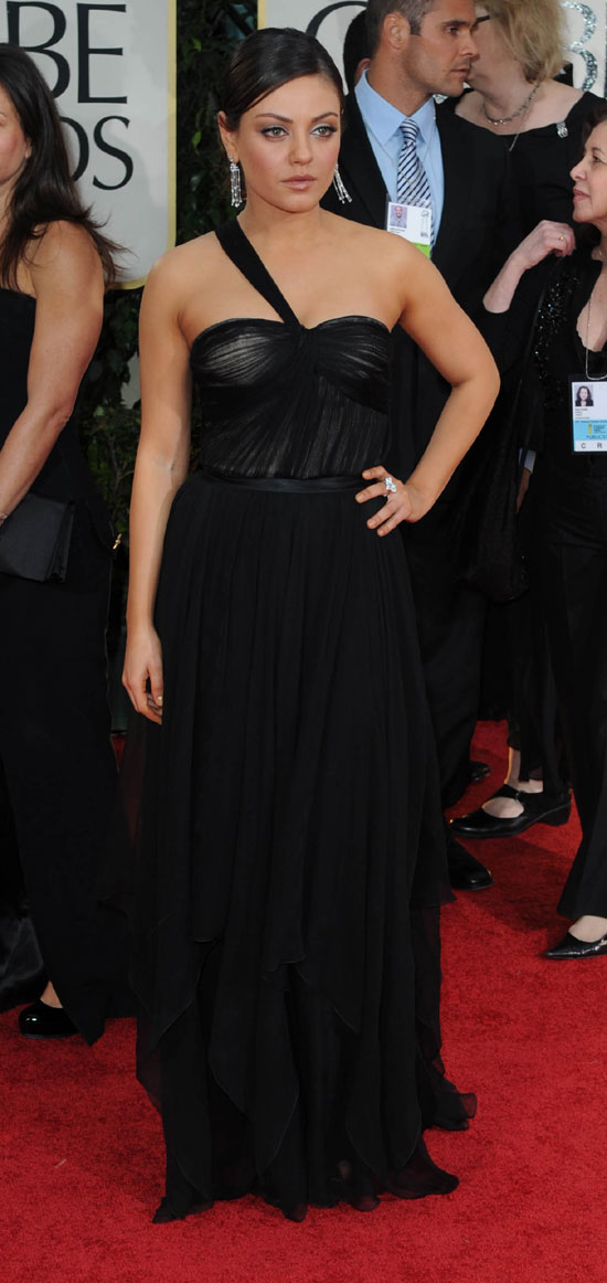 Mila Kunis Gown at the golden globes 2012
