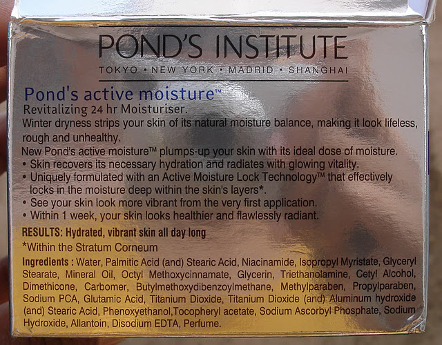 Ponds Active Moisture Moisturizer Review