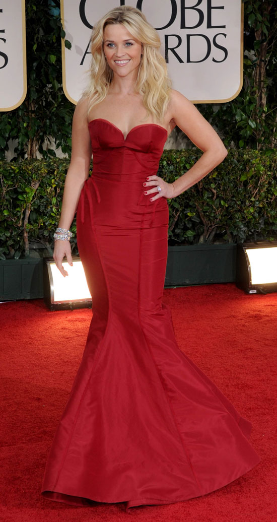 Reese Witherspoon gown at the golden globes2012