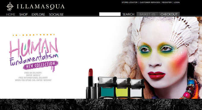 Free International Shipping at Illamasqua !