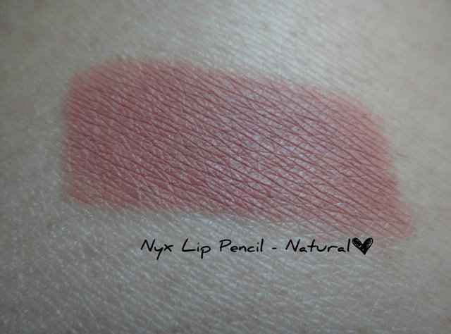Nyx Lip Pencil In Natural Swatch Review Peachesandblush