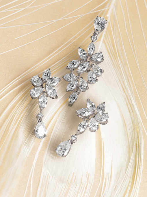 Jewelled Accessories for Brides to Be : Earrings from Zoyas Summer Collection & DKNY Time Pieces