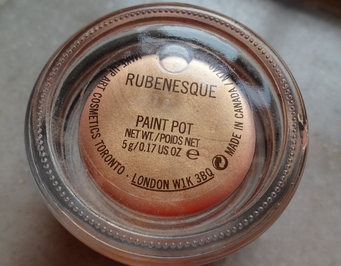 Mac Rubenesque Paint Pot Swatch, Review