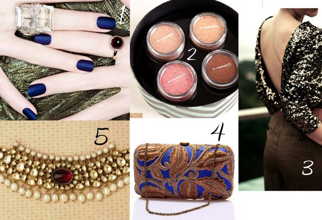 The Lust List: Royal Blues & Metallic Hues