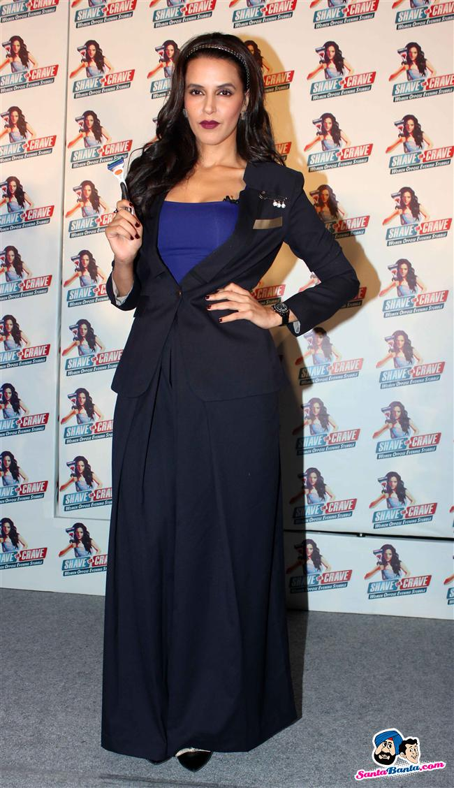 Neha Dhupia at a Gillette Event:  Ermmm...