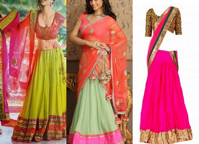 Lehenga For Mehndi Ceremony : Mehendi outfit ideas for brides to be peachesandblush